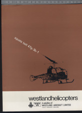 (192) Brochure hélicoptère Aircraft Helicopter Westland Scout