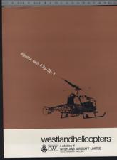 (192) Brochure hélicoptère Aircraft Helicopter Westland Agusta bell 47g-3b-1
