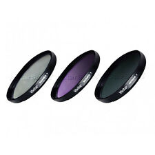 Vivitar 49mm UV CPL FLD Multi Coated Filter Kit for Sony NEX-3 NEX-5 NEX-7