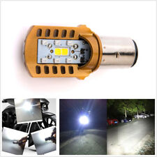 Motorcycle ATV 20W 6000K White BA20D LED COB Headlight Headlamp Hi/Lo Beam Bulb