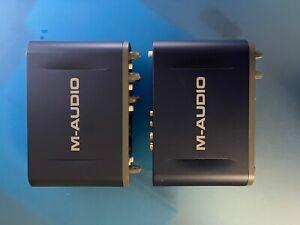 Two M-Audio Fast Track Pro Digital Recording Interface Portable Audio / MIDI