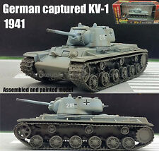 Easy model WWII German 1941 captured KV-1 Russian heavy tank  1/72 no diecast