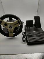 Sega Dreamcast Interact Concept 4 Racing Steering Wheel w/ Pedals