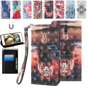 Cute Print Flip Case Wallet Leather Magnetic Cover for Nokia 2.4 2.3 1.3 7.2 3.2