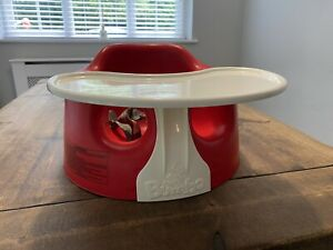 Red Bumbo Baby Seat + Play Tray