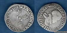 Louis XIII, 1610-1643 1/2 Franc, 1655 C Saint-Lô VARIETY ALIEN large head the