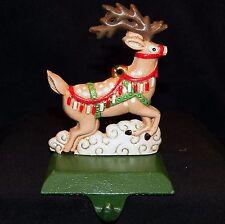 Midwest importers hierro fundido Papa Noel Reno Calcetines Navidad Soporte