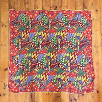 MISSONI!!! Vintage 1990s 'Missoni' multicoloured and multi-patterned, silk scarf