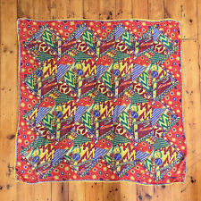 Missoni! Vintage 1990s 'Missoni' multicoloured and multi-patterned, silk scarf
