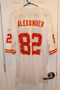 white Kansas City Chiefs Derrick Alexander replica printed Reebok jersey (NWT)