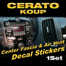 Center Fescia Air Vent Carbon Decals Sticker 3P for Kia 2010 - 2013 Cerato Koup