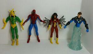"Marvel Universe 3.75"" Electro SpiderMan SpiderWoman Hydro Figure Lot"