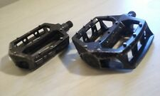 black Redline 9/16 aluminum pedals old / mid school bmx freestyle RL PL