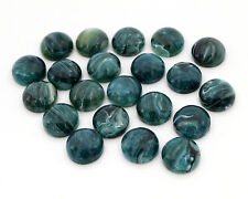 40pcs 12mm Imitation Marble Flat Back Resin Cabochons | Green, blue tones
