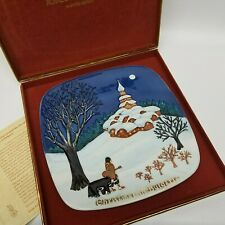 Royal Doulton John Beswick Ltd Christmas Around the World Plate Bulgaria - 1974