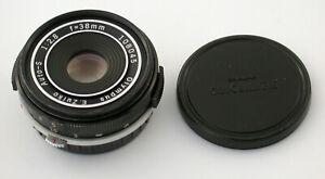 OLYMPUS Pancake Zuiko Auto-S 2,8/38 38 38mm PEN F FT FV 14mm thin tief !!
