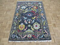 4 x 6 Hand Knotted Gray Turkish Knotted Oushak Oriental Rug G8541