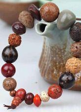 Sacred Prayer Seeds Wrist Mala Prayer Bracelet 6-12mm Beads Multi-colored #41017