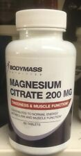 Magnesium Citrate 200mg 60 Tablettes Bodymass Nutrition