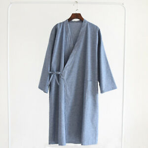 New Chinese Japanese Oriental Mens Martial Kung Fu Kimono Dressing Gown mrobe14
