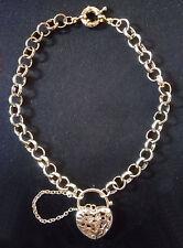 Bracelet Femme Coeur Or Jaune GF 18 K 24cm 17 gr. neuf