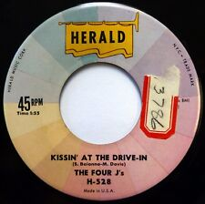 FOUR J'S 45 Kissin' at the Drive-In/Dreams Are a Dime.. HERALD doowop VG++ ws396