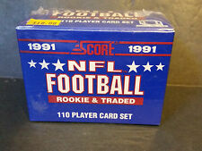 1991 Score NFL Football Rookie and Traded Set Trading Cards - Factory Sealed
