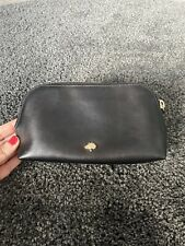 Mulberry Make Up Case, Cosmetics Pouch. Black Leather. Ladies Mulberry Pouch