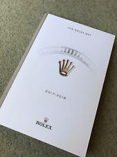 NEW 'THE ROLEX WAY' 2017 - 2018 BRAND BOOK