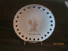 Precious Moments 'Thou art mine' 1978 Decorative Plate with stand Nice!