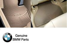 NEW BMW E53 X5 2003-2006 Front and Rear Beige All Weather Floor Mats Genuine