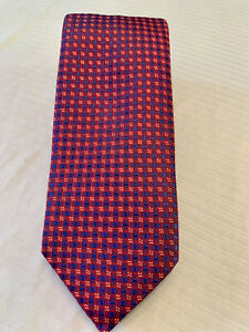 """ETON: PINK/RED/BLUE 100% SILK WIDTH 3 1/8"""" MADE IN ENGLAND MSRP: $155.00 NWT"""