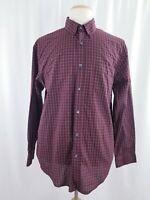 Van Heusen Men's Casual Button-up Long Sleeve Shirt, size L, Multi-color,