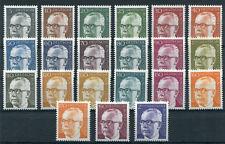 Bund Heinemann sauber postfrisch komplett BRD 635 - 645 , 689 - 692,727 -732 MNH
