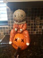Trick 'r Treat Sam LIGHT UP! Ceramic Statue Spirit Halloween Trick or Treat Rare
