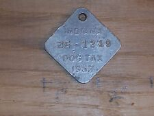Vintage Dog License Tax Tag State of Indiana IN County 35 1249  yr 1952    dg29