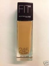Maybelline Fit Me Liquid Foundation Medium Beige #245 SPF 18, 1 Oz NEW