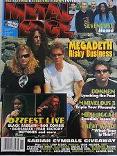 Metal Edge Magazine Megadeath, Dokken, Sevendust November 1999
