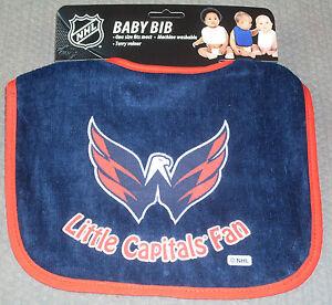 NHL Little Washington Capitals Fan Baby Bib Blue w/Red Trim by WinCraft