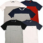 Tommy Hilfiger Mens T-Shirt Solid Color Block Classic Fit Casual Logo Tee New
