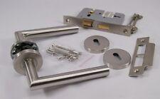Mitred Door Handle Pack (3 lever Lockset), Satin Stainless Steel