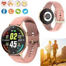 Women Smart Watch Bluetooth Dial Heart Rate Monitor for Samsung Note 10 9 LG V50