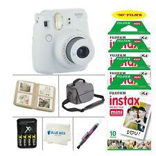 Fujifilm Mini 9 Instant Film Camera (Smokey White)+ 50 Film Sheets + Accessories