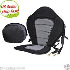 Adjustable Padded Kayak Seat + Detachable Back Bag Canoe Backrest Ship Fast