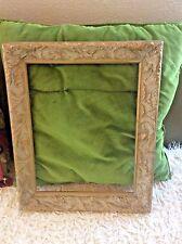 picture frame carved wooden VINTAGE ORNATE CARVED WOOD vtg ornate