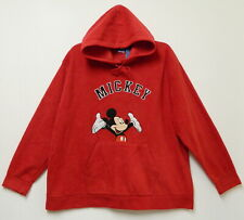 DISNEY MICKEY MOUSE RED FLEECE PULLOVER HOODIE~WOMENS 3X ~POCKET