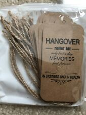 14 Wedding Favor Hangover Kit Tags and poly bag Bachelorette PartyBridal Shower