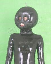100% Latex Rubber Hood Maske Aufblasbar 0,8mm Catsuit Blowup Mask