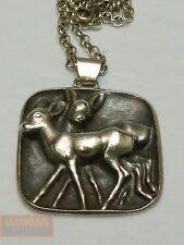 Vintage Bambi Colgante de Plata 800 con cadena Reh Silver Deer pendant with Chain