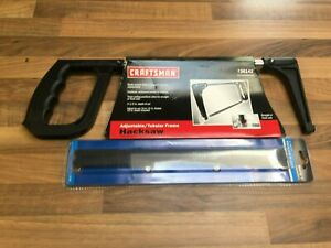 """AIRCRAFT TOOLS CRAFTSMAN NEW 12"""" OR 10 HACKSAW HAND SAW WITH 10 SPARE BLADES LOT"""